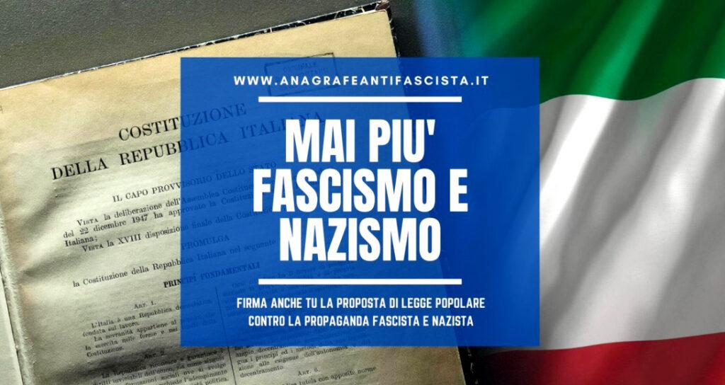 """Proposta di Legge di Iniziativa Popolare """"Stazzema"""". Norme contro la propaganda e la diffusione di messaggi inneggianti a fascismo."""